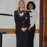 HOSA State Officer Sarah McCullough and Courtesy Corp Alina Jafri
