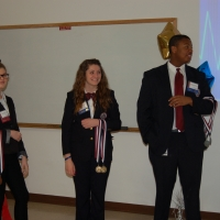 State Officers, Gabrialle Parag and Bomani Crumpton with Courtesy Corp Missy Sweed