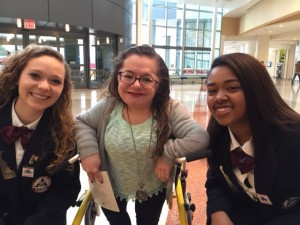 A member of Georgia HOSA happened to be at Nemours during the Rare Disease Day competition!